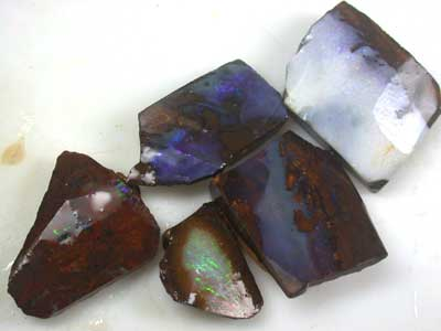 ROUGH BOULDER OPAL  5PC 95.5CT GR1108