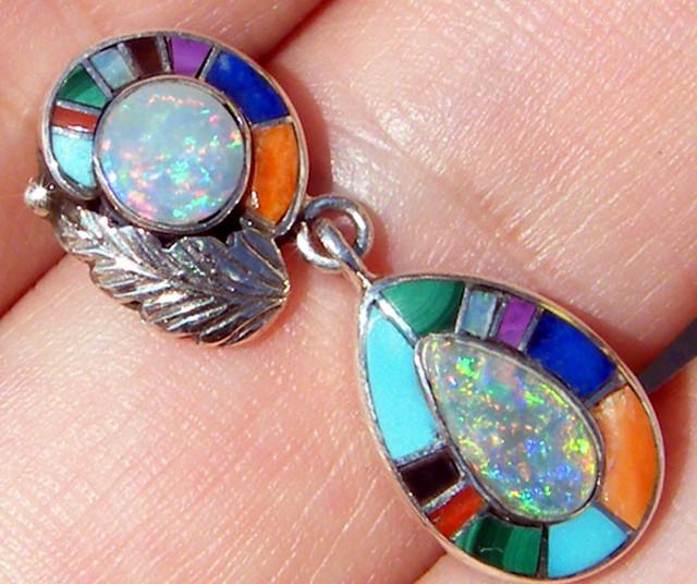 Individual Design 925 Silver L.R Opal Pendant 13.5 CTs[OJ2]