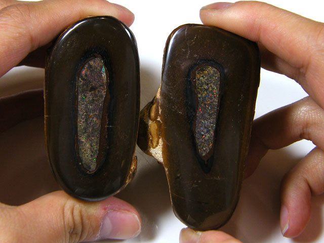 TWO PIECE BOULDER OPAL SPECIMEN 1495 CTS  MM 1102