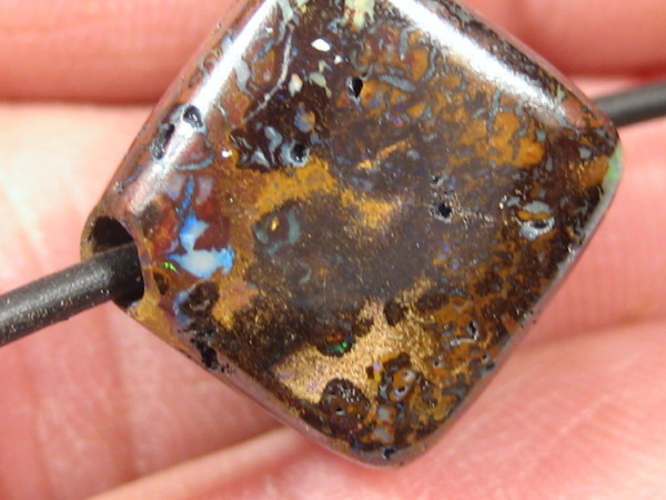 YowahOpal- 28.00Cts Boulder Matrix Opal - Cube Beads
