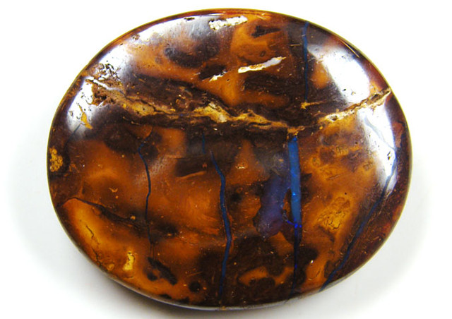 LARGE OVAL VEINED  BOULDER OPAL 127  CTS  MM 1379