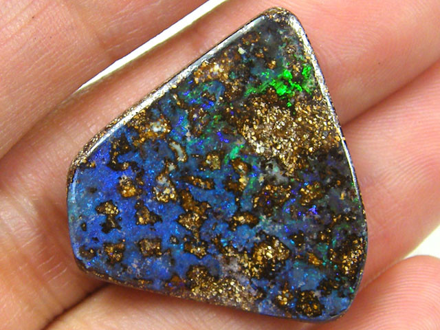 FREEFORM SEA BLUES BOULDER OPAL 21.6 CARATS  JO 1072