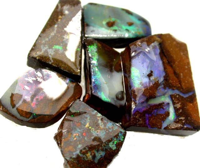 6 PIECES  OF BOULDER  ROUGH 83.50 CTS [BY1727]