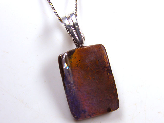BEAUTIFUL BOULDER OPAL PENDANT 23.15 CTS MM 1461