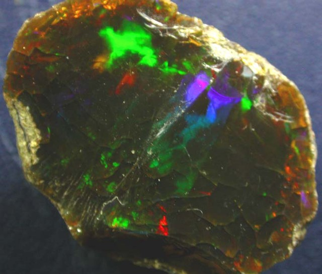 RARE DARK  WELO ROUGH OPAL  -ETHIOPIAN 43.15 CTS [VS2298]