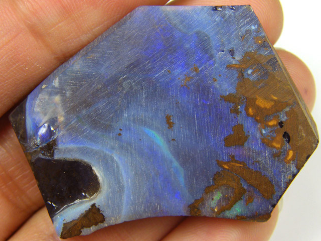 BLUE FIRE RUBBED BOULDER  OPAL  90  CTS  MM 1537