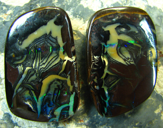 2 PIECES MATCHING  PATTERN PICTURE QUALITY KOROIT OPAL A2768