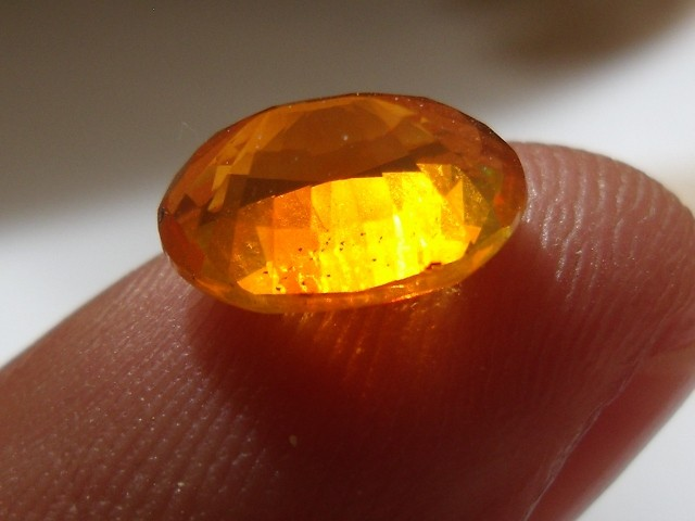 FreeForm Faceted Mexican Fire Opal 1.34 Carats.