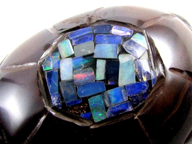 LARGE  CARVED INLAY TURTLE  BOULDER OPAL  430 CTS MM 1540