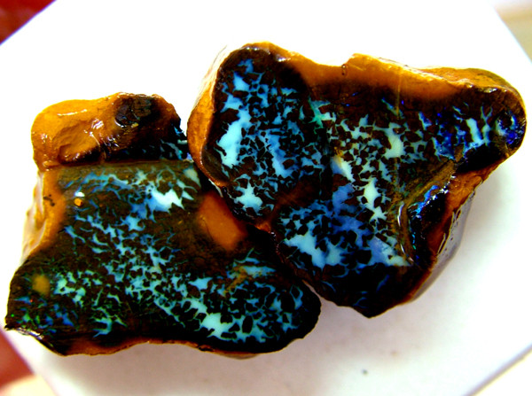 YOWAH OPAL ROUGH MATCHING PAIR 50 CTS *DTO* DT-604