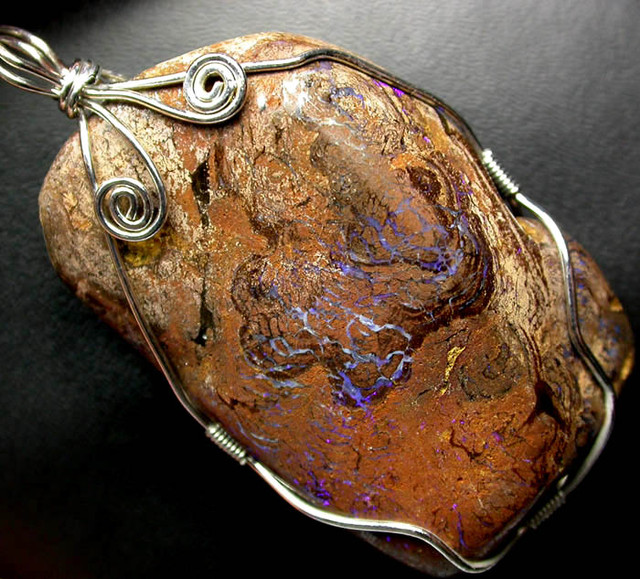 BOULDER MATRIX WIRE WRAPPED 145.95 CTS [BMA3207 ]