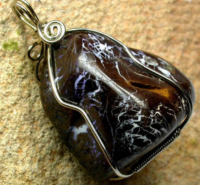 109.25 CTS BOULDER MATRIX WIRE WRAPPED  [BMA3266 ]