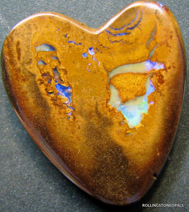 PATTERN YOWAH OPAL HEART SHAPE THE QUEENSLAND OPAL FIELD A4114