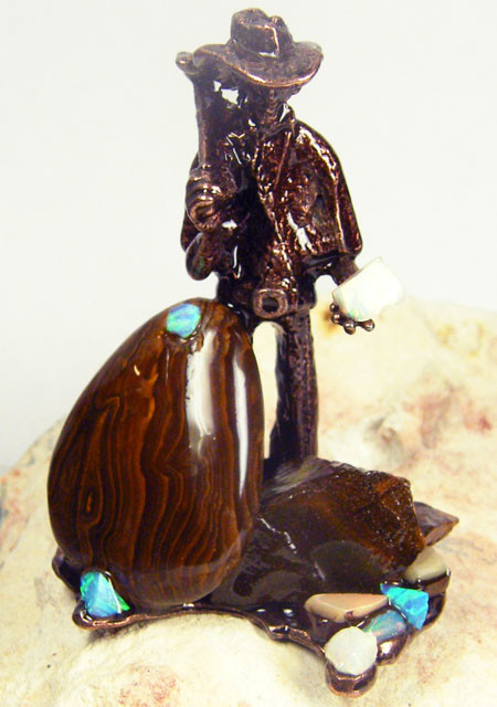 LARGE  OPAL  MINER STATUE   436.55 CARATS  GRR 454