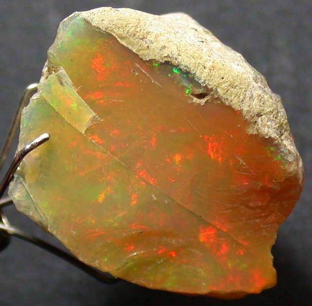 FFF Rough Ethiopian Opal 13.55 Carats  code QOM 467