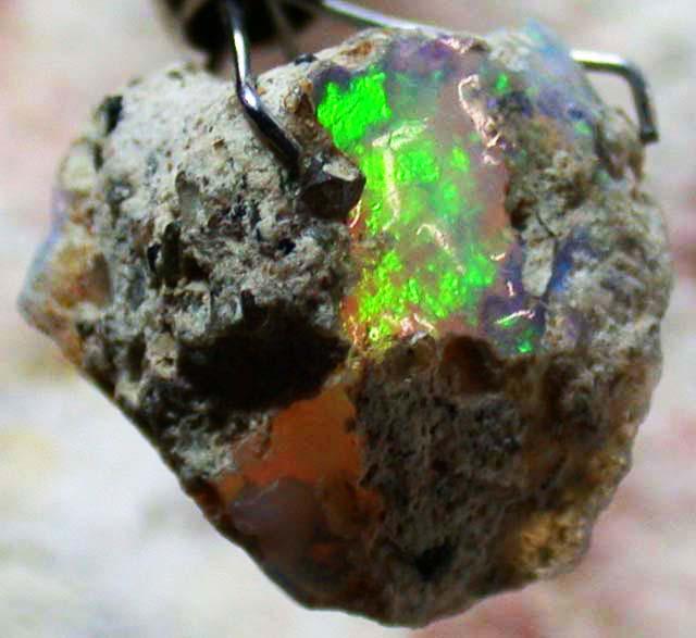 FFF Rough Ethiopian Opal 6.95 Carats  code QOM 517