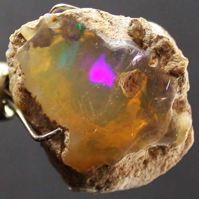 FFF Rough Ethiopian Opal 8.60 Carats  code QOM 531