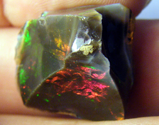 STUNNING DARK BROWN OPAL FROM ETHIOPIA 30.1 CTS [HOP03]