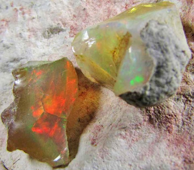 SF PARCEL Rough Ethiopian Opal Carats  code QOM612