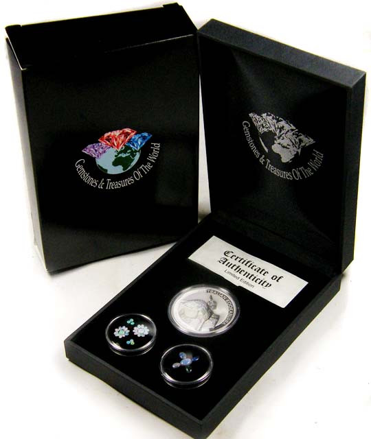 2011 TREASURES OPAL & KOOKABURRA SILVER COIN SERIES 10-100
