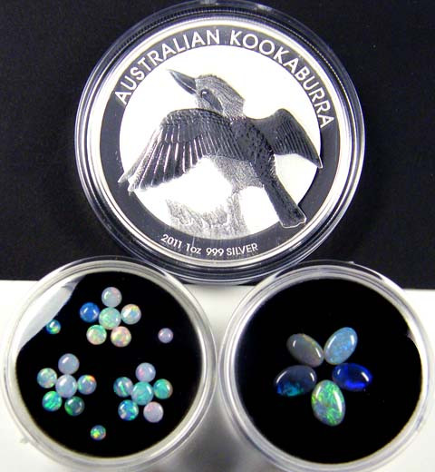 2011 TREASURES OPAL & KOOKABURRA SILVER COIN SERIES 4-100