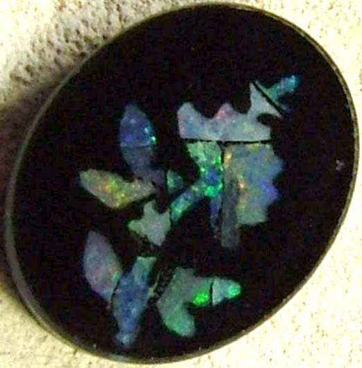 NATURAL OPAL INLAYED PICTURE STONE  1.50 CTS [MS2313]