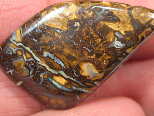 Drilled Boulder Matrix Opal.