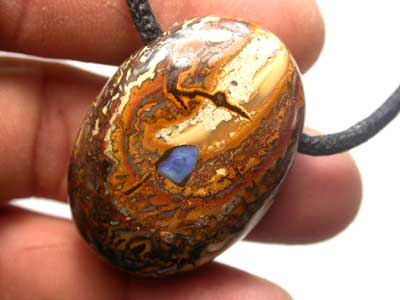 STUNNING INLAYED KOROIT PENDANTS WITH STRAP [ AP 6 ]  100.00
