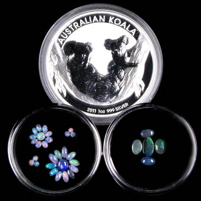 2011 TREASURES OPAL & KOALA  SILVER COIN SERIES  6-100
