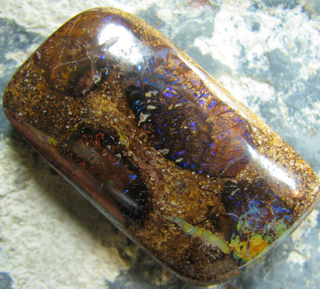 BARGIN BOULDER OPAL HIGH POLISH STONE CONGLOMERATE 52.40 CT A5511