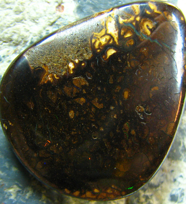 HIGH POLISHED IRONSTONE BOULDER + TRACE OF COLOR 24.60 CTS A5918