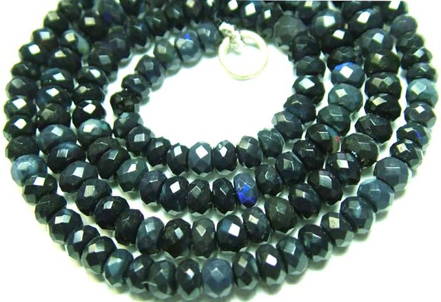 BLACK OPAL BEADS FACETED  DRILLED 45.60  CTS  AS-A2070
