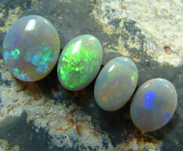 SOLID NATURAL 4 PCE PARCEL WHITE OPAL COOBER PEDY 2.49 CTS A6167