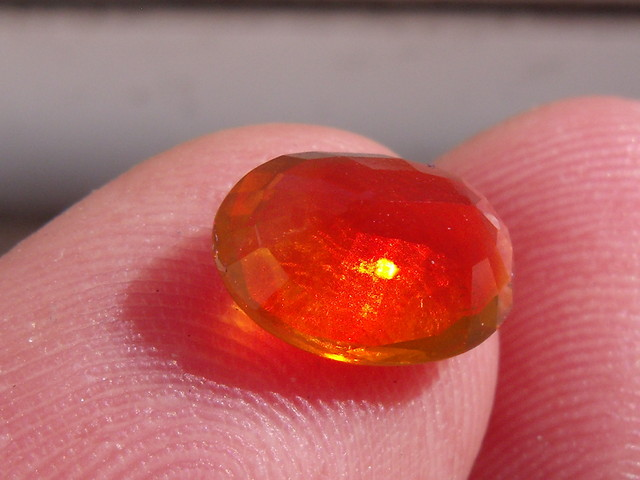 FreeForm Faceted Fire Mexican Opal 1.43 Cts