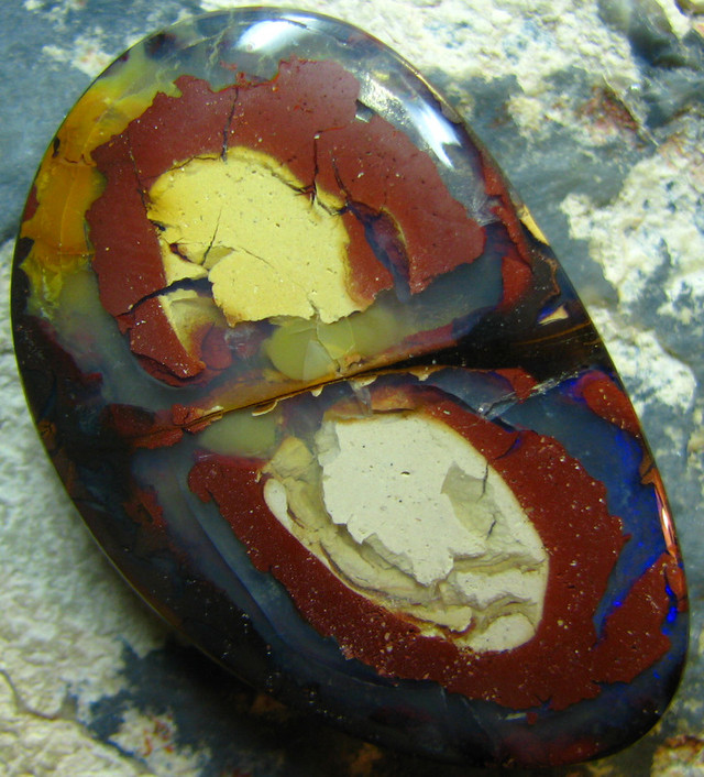 V UNIQUE LOOK BOULDER OPAL DRILLED FOR PENDANT USE 65.70 CT A6847