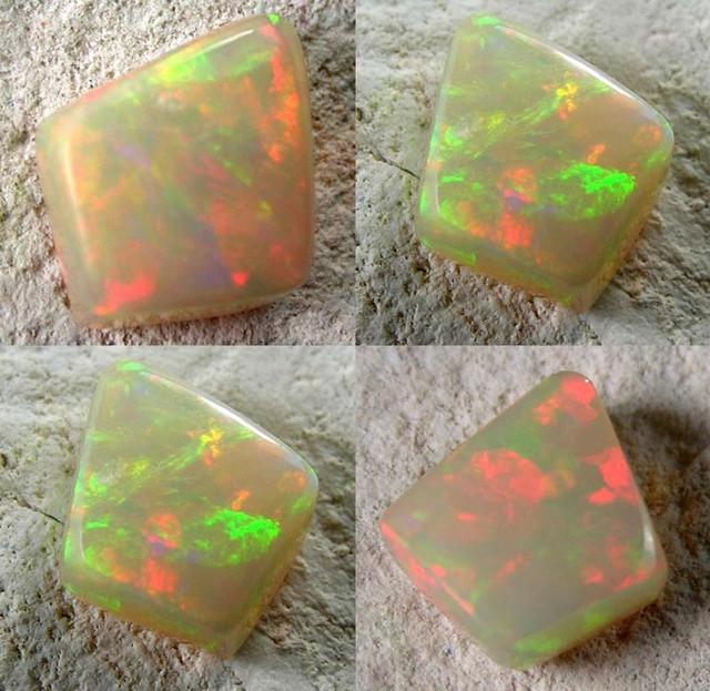 Quality Finish cut stone Gondar Ethiopean opal  1.11cts