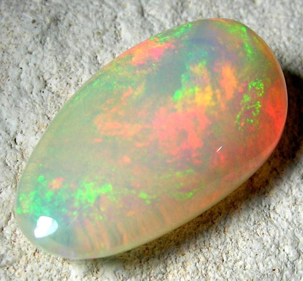 Quality Finish cut stone Gondar Ethiopean opal  4.18 cts
