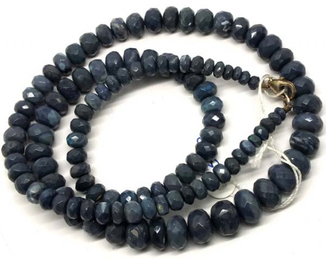 BLACK OPAL BEADS FACETED 95 CTS TBO-2951