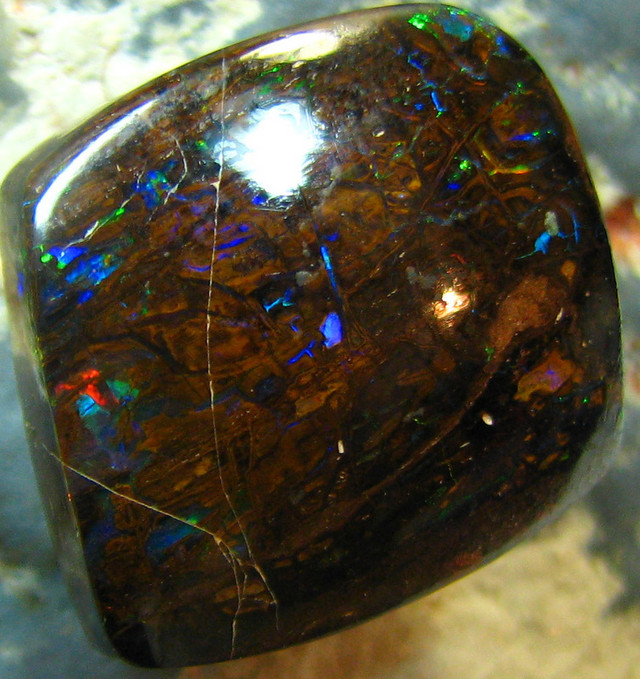 100+MILLION OF YEARS OLD OPALIZED WOOD RED FIRE STONE 20CTS A7112