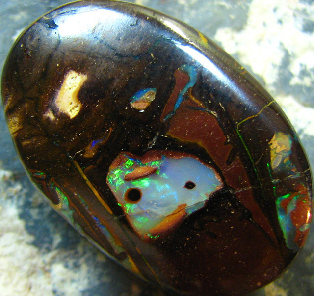 OVAL SHAPE NATURAL BEAUTIFUL BOULDER OPAL 28.60 CTS A7302