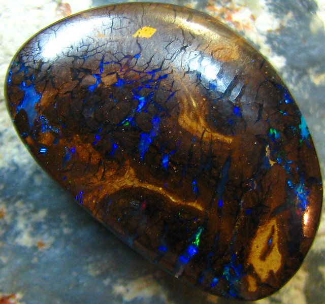 ELECTRIC NATURAL BEAUTIFUL BOULDER MATRIX OPAL 13.45 CTS A7309
