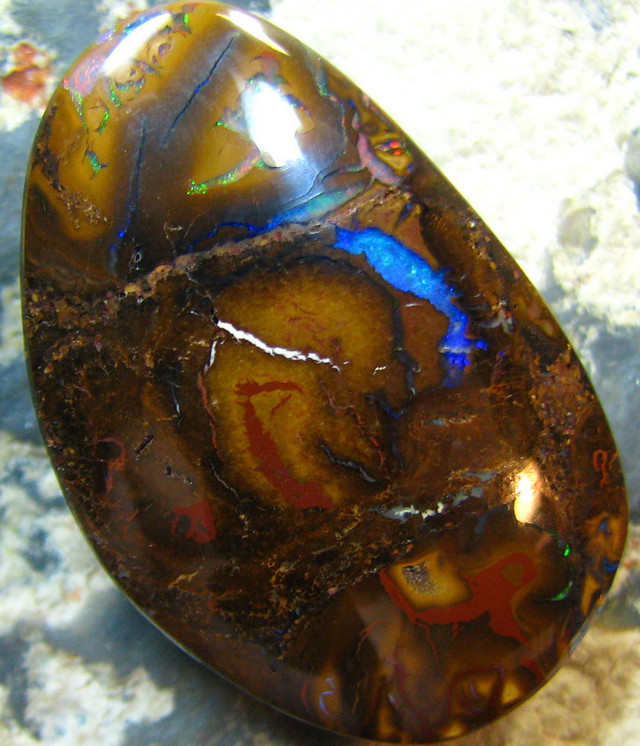 NATURAL BEAUTIFUL BOULDER OPAL 45.65 CTS A7337