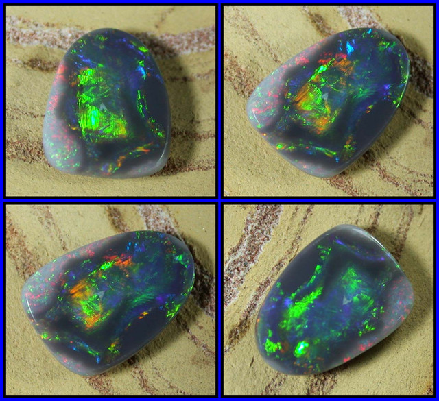 NATURAL SOLID BLACK OPAL Natures Art  1.39ct 11PS/43