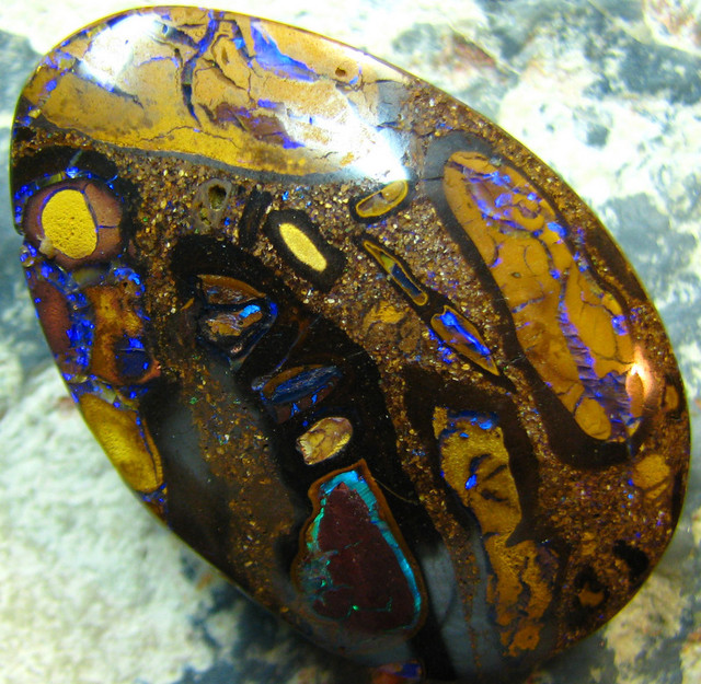 DIRECT WHOLESALE BOULDER OPAL PENDANT DRILLED 63.90 CTS A7784