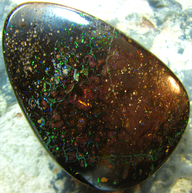 DIRECT WHOLESALE BOULDER OPAL PENDANT DRILLED 48.80 CTS A7808