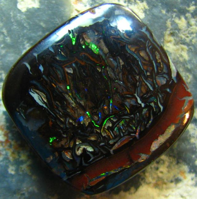 FIREY MATRIX BOULDER OPAL VEINS OF COLORS 12.80 CTS A7934