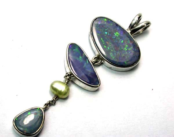 OPAL PENDANT-SILVER -DIRECT FROM FACTORY 30.40 CTS [SOJ207 ]