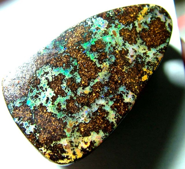 FREEFORM BOULDER OPAL BEAD DRILLED 49 CTS ASA-3443