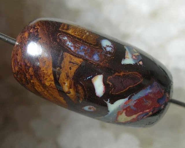 QLTY BOULDER OPAL MATRIX BARREL BEAD 20x10mm (AOB/76)