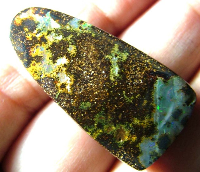 FREEFORM BOULDER OPAL BEAD DRILLED 40.5 CTS ASA-3496